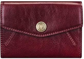 Maxwell Scott Bags Maxwell-scott Small Italian Leather Purse - The Fontanelle Wine