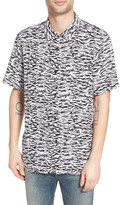 Obey Men's Untamed Print Woven Shirt