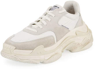 Balenciaga Men's Triple S Nylon Sneakers