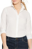 Lauren Ralph Lauren Plus Size Women's Stripe Cotton Shirt