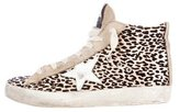 Golden Goose Deluxe Brand Girls' Leopard Patterned High-Top Sneakers