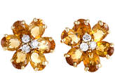 Damiani 18K 0.45 Ct. Tw. Diamond & Citrine Clip-On Earrings