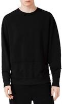 Topman Men's Raw Edge Sweatshirt