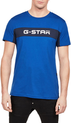 G Star Men's Logo Typographic T-Shirt