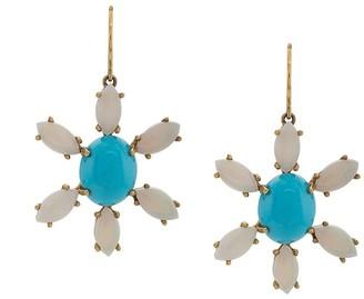 Andrea Fohrman 18kt yellow gold Sleeping Beauty earrings