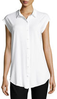 Eileen Fisher Lightweight Button-Front Jersey Tunic