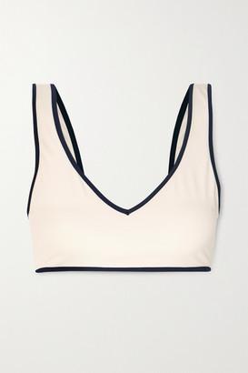 ODYSSEE Azur Two-tone Bikini Top - Cream