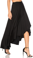 Rachel Pally Ruffle Wrap Skirt in Black