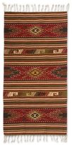 Novica Handcrafted Zapotec Wool 'Blossoming Diamonds' Rug (2'5x5) (Mexico)