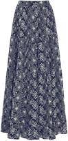 Co High Waist Embroidered Maxi Skirt
