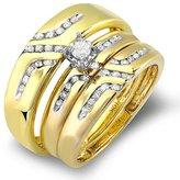 DazzlingRock Collection 1.15 Carat (ctw) 10k White Gold Round Black & White Diamond Flower Gift Pendant with FREE 10K Gold Chain