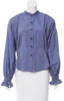 Rachel Comey Long Sleeve Button-Up Top
