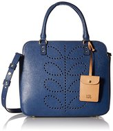 Orla Kiely Textured Leather Jeanie Convertible Shoulder Bag