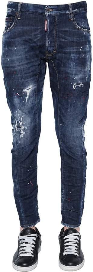 DSQUARED2 17cm Tidy Biker Spray Wash Denim Jeans