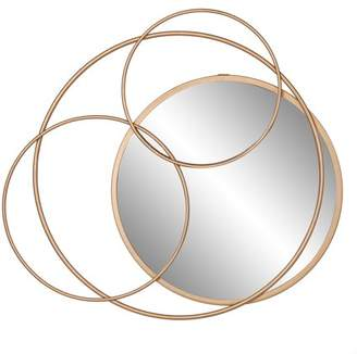 Patton Wall Decor Gold Metal Layered Circle wall accent Mirror