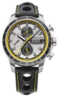Chopard Grand Prix de Monaco Historique Chrono Titanium, Stainless Steel& Leather Strap Watch