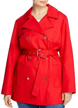 MICHAEL Michael Kors Classic Sateen Trench Coat