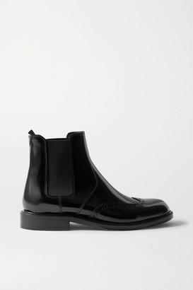 Saint Laurent Ceril Glossed-leather Chelsea Boots - Black