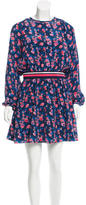 Tanya Taylor Silk Floral Print Dress