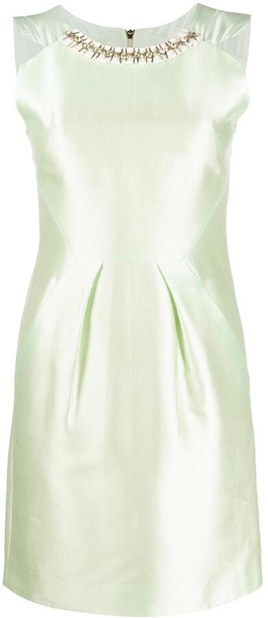 Matthew Williamson Embellished Neckline Dress