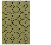 Diva At Home 2' x 3' Serene Stars Green, Black and Hand Hooked Outdoor Area Throw Rug