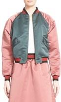 Tomas Maier Colorblock Duchesse Satin Baseball Jacket