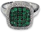 Effy Jewelry Effy Brasilica 14K White Gold Emerald and Diamond Ring, 1.00 TCW