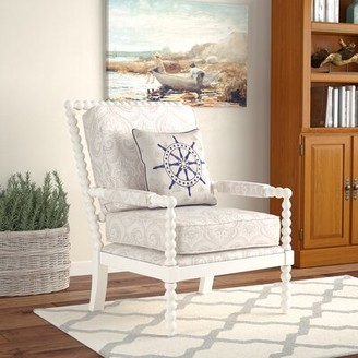 BEIGE Bay Isle Home Shellplant Slipper Chair Bay Isle Home Upholstery Color Paisley