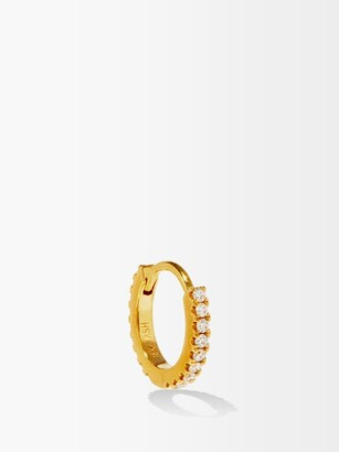Maria Tash Eternity Diamond & 18kt Gold Single Earring - Yellow Gold