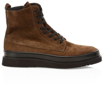Aquatalia Corbin Lace-Up Suede Boots