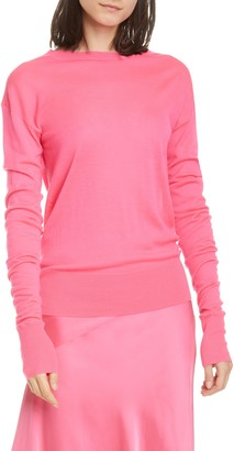 Helmut Lang Contrast Seam Cashmere Sweater