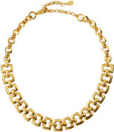 Jose & Maria Barrera Hammered Link Collar Necklace