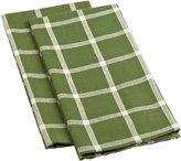 DII Basics Window Pane Dishtowel Vineyard Green, Set of 2