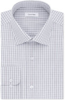 Calvin Klein Men's STEEL Classic-Fit Non-Iron Performance Check Dress Shirt