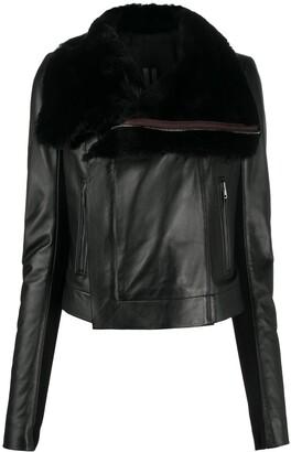 Rick Owens Leather Biker Jacket