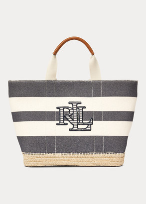 Ralph Lauren Striped Canvas Small Tote