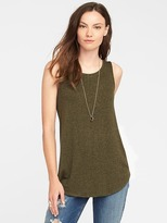 Old Navy High-Neck Brushed-Knit Swing Tank for Women