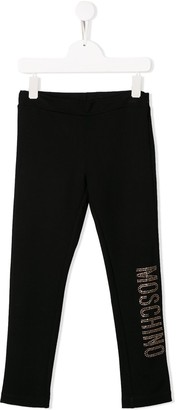 MOSCHINO BAMBINO Sequinned Logo Jogging Trousers