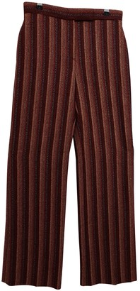 Christian Lacroix Burgundy Wool Trousers for Women