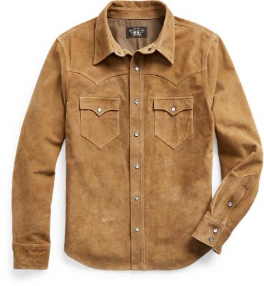 Ralph Lauren Suede Western Shirt Jacket