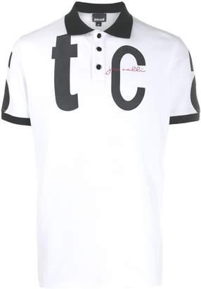 Just Cavalli logo print polo shirt