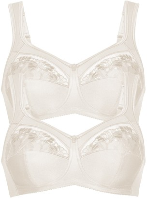 Anita Women's Non-Wired Non-Padded Support Bra 5448 (Pack of 2) Crystal 42 D