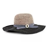 Brixton Women's Taupe & Black Straw Hat