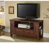 Walker Edison 44-Inch Classic Brown Wood TV Stand