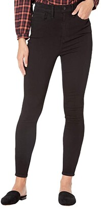 Madewell 11'' High-Rise Roadtripper Jeans: Ankle-Zip Edition (Black Frost) Women's Jeans