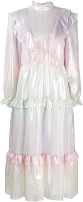 Olivia Rubin Sienna ruffle midi dress