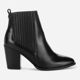 Clarks Women's West Lo Leather Heeled Ankle Boots