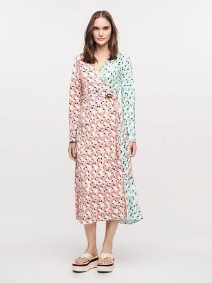 Diane von Furstenberg Tilly Crepe Midi Wrap