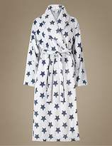 M&S Collection Star Print Shimmer Dressing Gown