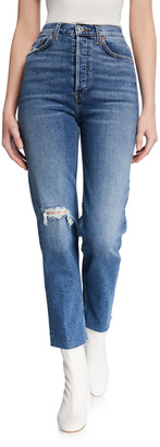 RE/DONE Ultra High-Rise Stovepipe Jeans